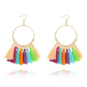 Kolczyki Frędzle Ring Color