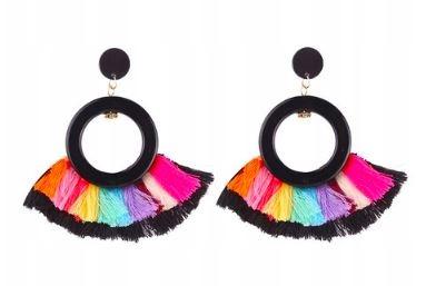 Kolczyki Rainbow Black