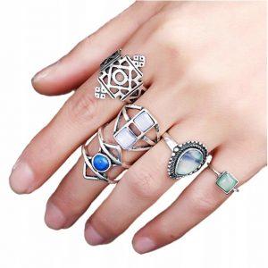 Zestaw pierścionków Zoe